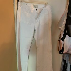 Boot cut white jeans
